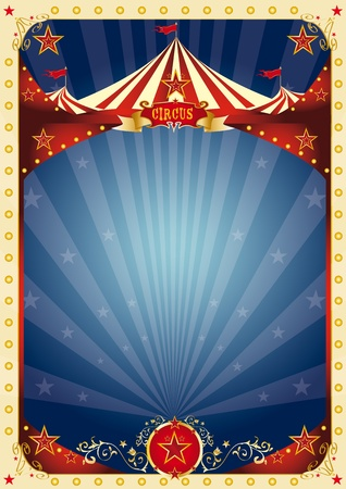 circus stage: A background with a large copy space and a big top for your message.  Illustration
