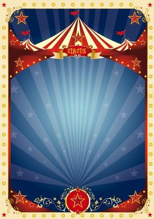cirkusz: A háttérben egy nagy példányt tér és a nagy tetején az üzenet. Illusztráció