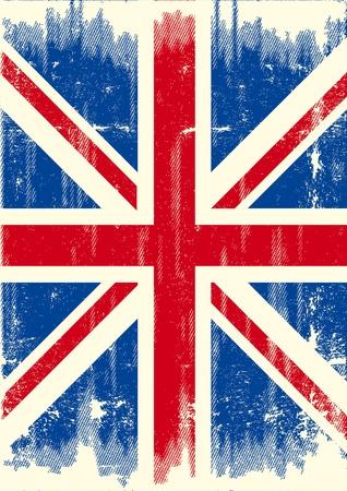 bandera inglesa: Una bandera del Reino Unido un poco con una textura para usted. Vectores