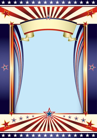 fete: An american poster with a copy space for your message. Illustration