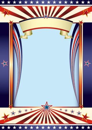 american poster: Un cartel americano con un espacio de la copia de su mensaje.