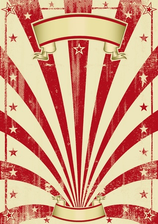 vintage carnival: An old poster retro style.