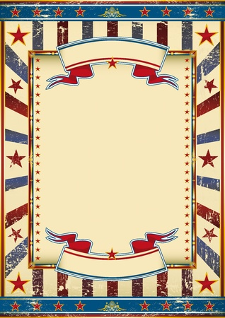 An american vintage poster with a copy space for your message. Vector