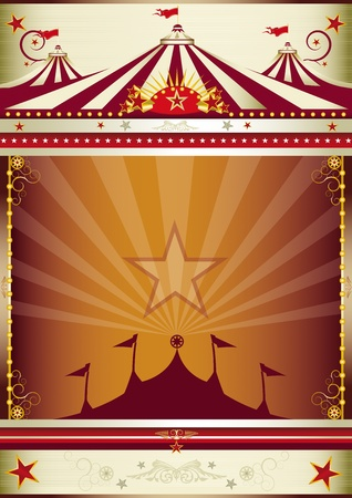 circus stage: An old style circus poster for you.