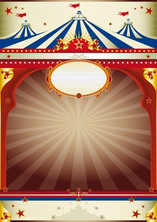 circus stage: An old style poster for your advertising. Illustration