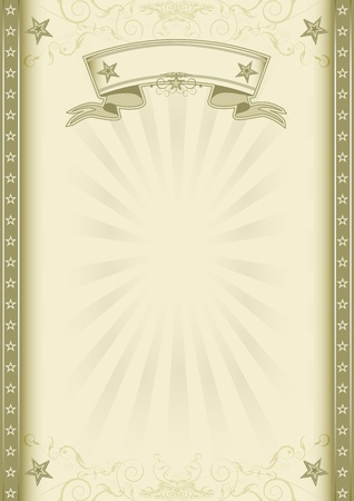 A vintage background with sunbeams for a poster