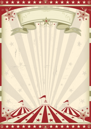 carnival festival: a circus vintage poster for your advertising