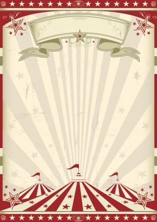 plakat vintage, cyrk za reklamy