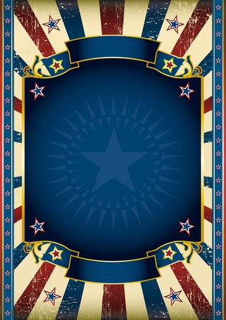 An American star poster for your advertising Vector
