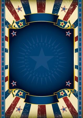 fondo de circo: Un cartel estrella norteamericana para su publicidad Vectores
