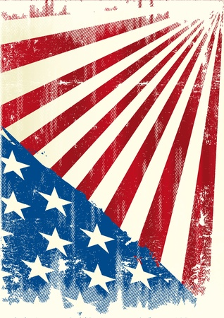 us grunge flag: an american grunge background for a poster