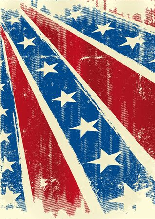 civil war: Background of Confederate poster with a grunge texture for you Illustration