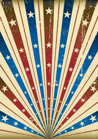 American grunge background with a texture for a poster Vector