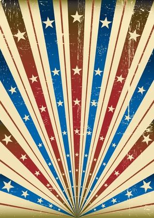 fondo de circo: Fondo del grunge estadounidense, con una textura para un cartel