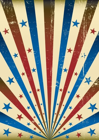 American dirty background with a texture for a poster Vector