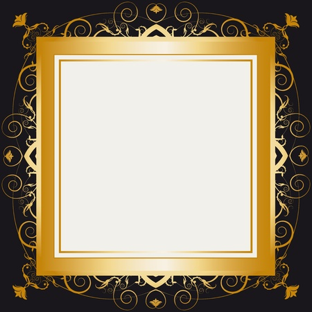 A frame with a large space for your message Stock Vector - 12008657