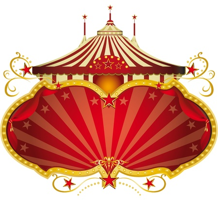 A circus frame with a big top and a large copy space for your message. Vector