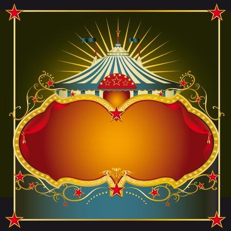 cabaret: Une carte de voeux sur le th�me du cirque avec un espace de copie grand pour votre message