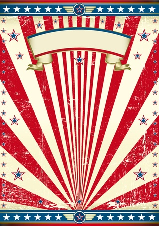 An american vintage poster for your message. Enjoy !  Vector