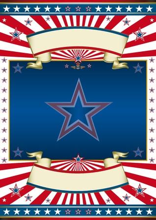 american poster: Un cartel tradicional americano para usted. Vectores