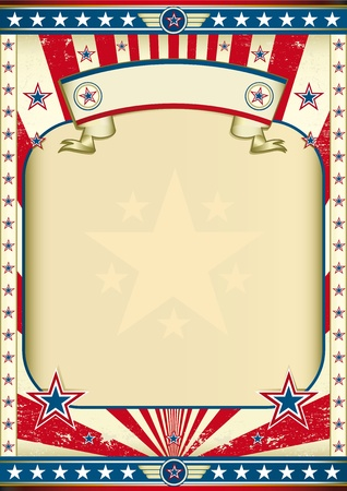 patriotic usa: A large empty frame for your message