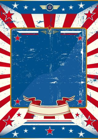 political campaign: A large empty frame with a grunge texture for your message  Illustration
