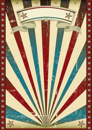 patriotic border: An american textured poster for your advertising. Illustration