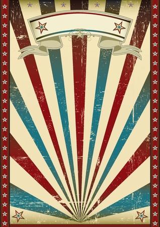 patriotic border: Un cartel americano de textura para su publicidad. Vectores