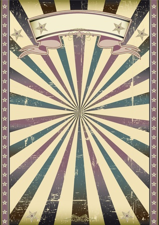 fete: A vintage background with sunbeams for a poster
