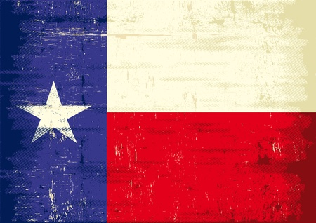 texas state flag: A texas flag with a texture