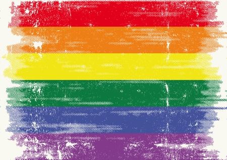 simbolo della pace: Una bandiera grunge con una texture.
