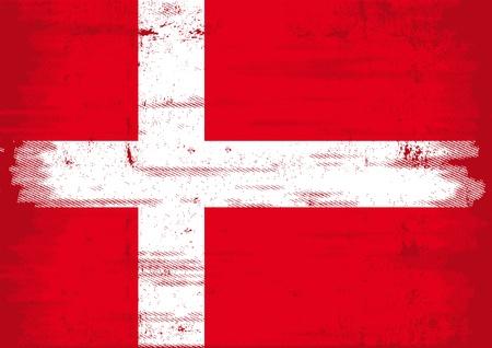 A Denmark grunge flag with a texture  Stock Vector - 12145092