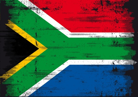 south african flag: A grunge South African flag for you
