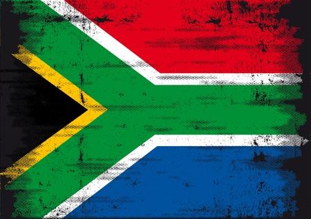 le cap: Un grunge de Sud�frica bandera para que