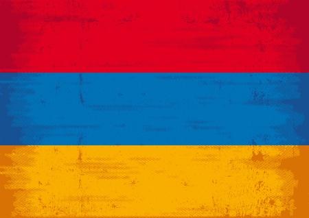 A flag of Armenia with a texture   Stock Vector - 12425882