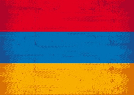 caucasus: A flag of Armenia with a texture   Illustration