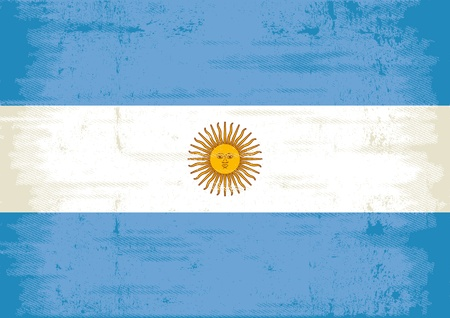 discolored: A flag of Argentina with a texture   Illustration
