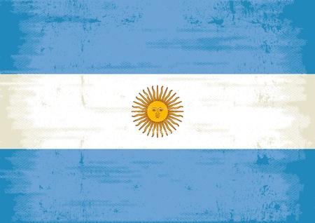 bandera argentina: Una bandera de la Argentina, con una textura