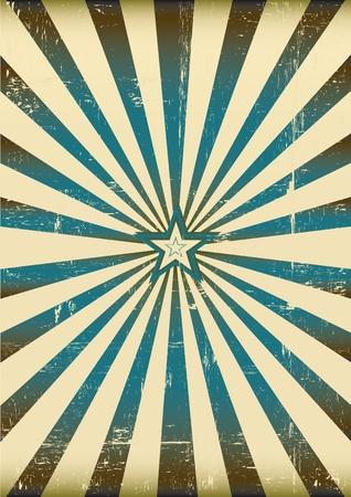 vintage: een vintage zonnestraal achtergrond voor een poster Stock Illustratie