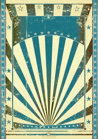 sunbeam: Retro blue background for your with a large frame for your message