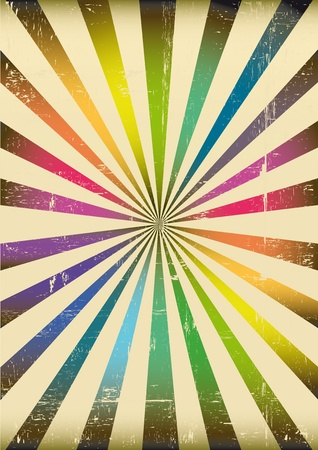 a sunbeam background with rainbow colors Vector