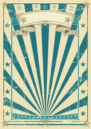 the circus: A vintage blue old paper kraft for your advertising