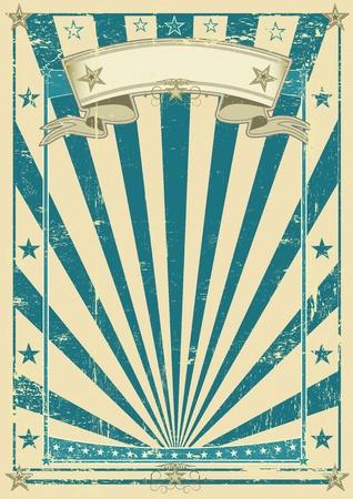 circo: Un vintage azul vieja de papel kraft para su publicidad