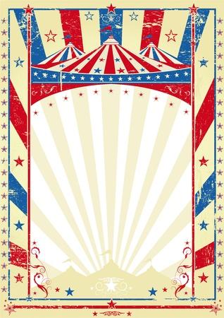 fondo de circo: vieja bandera tricolor arriba gran cartel