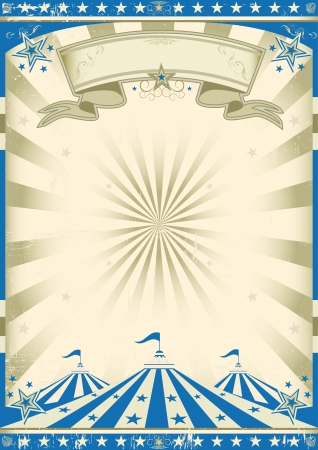 amusement: A circus blue vintage poster for your show Illustration