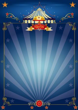 fondo de circo: Un circo azul cartel para su show