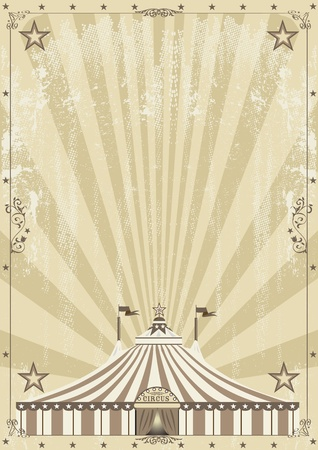An old circus background for your advertising Vector