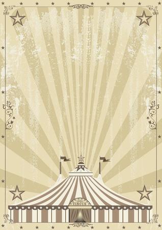 cirkusz: Egy régi cirkuszi hátteret a reklám Illusztráció