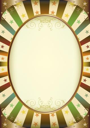 fondo de circo: Un marco vintage con un espacio de la copia de una imagen o el mensaje
