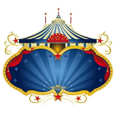 cirkusz: A cirkusz keret nagy felső és egy nagy copy space függöny az üzenet
